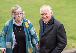 © Licensed to London News Pictures. 22/03/2019. Newport, Monmouthshire, UK. Funeral of Paul Flynn, Labour MP at St Woolos Cathedral. PETER HAIN arrives at the funeral. Jeremy Corbyn spoke at the funeral service. Photo credit: Simon Chapman/LNP