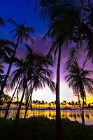 Sunset, Anaehoomalu Bay, Waikoloa Beach Marriott Resort & Spa, Waikola, The Big Island of Hawaii, Hawaii, USA