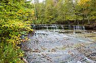 64797-00618 Au Train Falls in fall, Alger County, MI