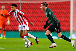 Gareth Bale of Tottenham Hotspur is tracked by Jordan Cousins of Stoke City  - Mandatory by-line: Nick Browning/JMP - 23/12/2020 - FOOTBALL - Bet365 Stadium - Stoke-on-Trent, England - Stoke City v Tottenham Hotspur - Carabao Cup