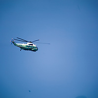 """Marine One is the call sign of any United States Marine Corps aircraft carrying the President of the United States.[1] It usually denotes a helicopter operated by the HMX-1 """"Nighthawks"""" squadron"""