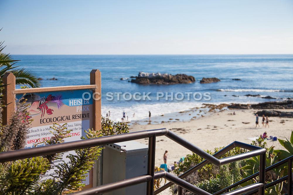 Bird Rock at Heisler Park in Laguna Beach California