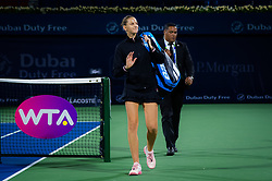 February 19, 2019 - Dubai, ARAB EMIRATES - Karolina Pliskova of the Czech Republic after her second-round match at the 2019 Dubai Duty Free Tennis Championships WTA Premier 5 tennis tournament (Credit Image: © AFP7 via ZUMA Wire)