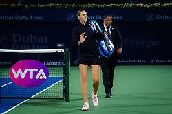 February 19, 2019 - Dubai, ARAB EMIRATES - Karolina Pliskova of the Czech Republic after her second-round match at the 2019 Dubai Duty Free Tennis Championships WTA Premier 5 tennis tournament (Credit Image: © AFP7 via ZUMA Wire)