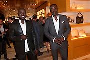 DAVID ADJAYE; CHRIS OFILI, Louis Vuitton openingof New Bond Street Maison. London. 25 May 2010. -DO NOT ARCHIVE-© Copyright Photograph by Dafydd Jones. 248 Clapham Rd. London SW9 0PZ. Tel 0207 820 0771. www.dafjones.com.