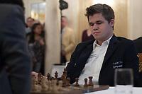 Zuerich, 01.02.2014, Zurich Chess Challenge 2014, Magnus Carlsen (Worldchampion and Grand Master Norway). (Gonzalo Garcia/EQ Images)