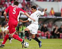 Fotball<br /> Foto: Dppi/Digitalsport<br /> NORWAY ONLY<br /> <br /> FOOTBALL - UEFA CUP 2005/2006 - FINALE - MIDDLESBROUGH FC v SEVILLA FC - 10/05/2006<br /> <br /> JAVIER PEDRO SAVIOLA (SEV) / CHRIS RIGGOTT (MID)