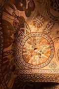 15th Century paintings inside Abune Yemata church in the mountains. Near Hawzen Town, Gheralta area, Tigray, Ethiopia, Horn of Africa