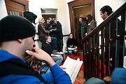 Berlin, Hochschule fur film und fernsehen Konrad Wolf, The Film & Television Academy (HFF) ?Konrad Wolf , sul set di un film per la televisione cooprodotto dalla scuola , diretto da Ciril Braem, all'ultimo anno di corso .....Berlin, Hochschule fur film und fernsehen Konrad Wolf, The Film & Television Academy (HFF) ?Konrad Wolf , on a film set realised by students with the school cooperation.