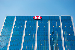 HSBC bank office building at Emaar Square business district in Downtown Dubai, United Arab Emirates