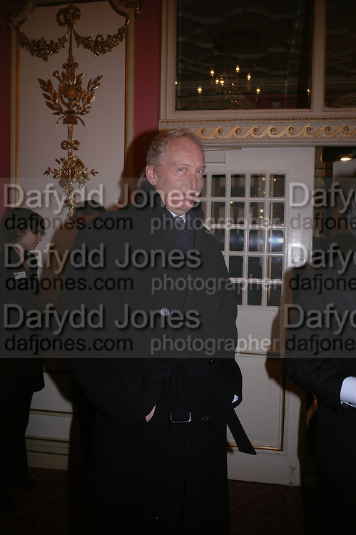 Charles Dance, Opening night of Embers, Duke of York's theatre. St. Martin's Lane. London. 1 March 2006. ONE TIME USE ONLY - DO NOT ARCHIVE  © Copyright Photograph by Dafydd Jones 66 Stockwell Park Rd. London SW9 0DA Tel 020 7733 0108 www.dafjones.com