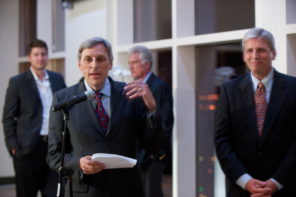 The Four Seasons Residences Austin hosted a party Friday night for current, future and prospective residents. Tom Segesta, General Manager of Four Seasons Austin speaks to the invitees.