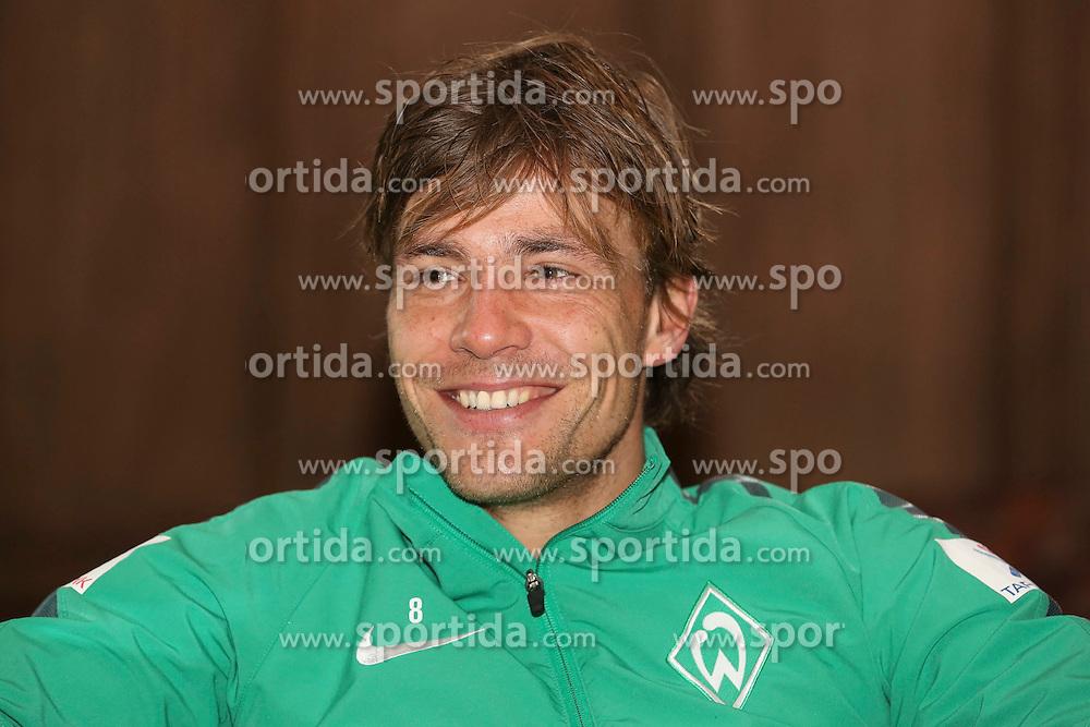 10.01.2015, Trainingslager, Belek, TUR, 1. FBL, SV Werder Bremen, im Bild Kapitaen Clemens Fritz (SV Werder Bremen #8) bei einem Pressegespraech // during a training camp of the german bunsdesliga club SV Werder Bremen in Trainingslager in Belek, Turkey on 2015/01/10. EXPA Pictures © 2015, PhotoCredit: EXPA/ Eibner-Pressefoto/ Schüler<br /> <br /> *****ATTENTION - OUT of GER*****