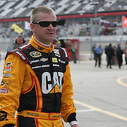 NASCAR Sprint Cup driver Jeff Burton is seen in the pits during the practice session prior to the NASCAR Sprint Unlimited Race at Daytona International Speedway on Saturday, February 16, 2013 in Daytona Beach, Florida.  (AP Photo/Alex Menendez)
