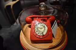 """© Licensed to London News Pictures. 28/06/2017. London, UK.  Inspired by the 1960s Batman TV series, """"Commissioner Gordon's Phone"""", 1969, by Clive Barker.  Preview day at Masterpiece London, a leading art fair held in Chelsea, bringing together 150 international exhibitors presenting works from antiquity to the present day.  The event runs 29 June to 5 July 2017.   Photo credit : Stephen Chung/LNP"""