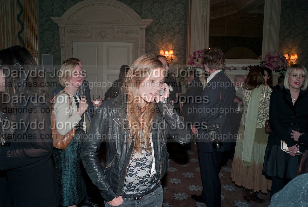 VIOLET HESKETH, The Dowager Duchess od Devonshire and Catherine Ostler editor of the Tatler host a party to celebrate Penguin's reissue of Nancy Mitford's ' Wigs on the Green.'  The French Salon. Claridge's. London. 10 March 2010.