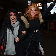 Lili Rose and Kelly Wild attend BBC1 All Together Now Series 1 Cast Members, fright night at The London Bridge Experience & London Tombs on 28 October 2018, London, UK.