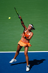 September 4, 2018 - Flushing Meadow, NY, U.S. - FLUSHING MEADOW, NY - SEPTEMBER 04: ANASTASIJA SEVASTOVA (LAT) day nine of the 2018 US Open on September 04, 2018, at Billie Jean King National Tennis Center in Flushing Meadow, NY. (Photo by Chaz Niell/Icon Sportswire) (Credit Image: © Chaz Niell/Icon SMI via ZUMA Press)