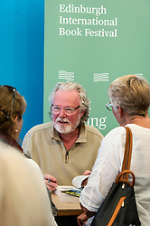 Pictured: Peter May (Author of Cast Iron)<br /> Book fanatics headed to Charlotte Square in Edinburgh which is the hub of the international Book Festival to meet the authors and also to meet up with fellow fans of the printed word.<br /> <br /> <br /> Ger Harley   EEm 15 August 2017