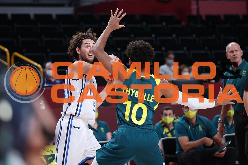 Pajola Alessandro<br /> Italia Italy - Australia Australia<br /> Olimpiadi Estive Tokyo 2020 - Fase a Gironi<br /> 2020 Summer Olympic Games - Group Phase<br /> Tokyo, 28/07/2021<br /> Foto A.Mehryar / Ciamillo-Castoria