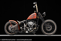 Taber Nash's 1157, a Harley-Davidson Shovelhead, built in 2007. Photographed by Michael Lichter in Sturgis, SD. August 4, 2020. ©2020 Michael Lichter