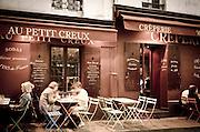 Au Petit Creux Creperie, Montmartre, Paris, France