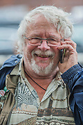 Bill Oddie lends his support - Charlotte Church, Welsh singer, performs outside Shell HQ as part of month long protest against Arctic drilling from Greenpeace. The protest involves a classical orchestra performing a daily Requiem for the Arctic Ocean. Shell Centre, Southbank, London, UK 26 Aug 2015