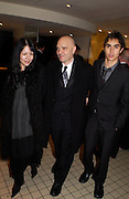 """Anthony Mingella, with family at  the The Times BFI London Film Festival 2003 - closing night party at Mezzo, """"Sylvia""""© Copyright Photograph by Dafydd Jones 66 Stockwell Park Rd. London SW9 0DA Tel 020 7733 0108 www.dafjones.com"""