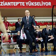 Anadolu Efes's coach Dusan Ivkovic during their Royal Hali Gaziantep Turkey Cup Semifinals match Anadolu Efes between Darussafaka Dogus at Karatas Sahinbey Arena in Gaziantep Turkey on Friday 20 February 2015. Photo by Aykut AKICI/TURKPIX