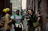 New York. Brooklyn. water street, DUMBO area, artist area in Brooklyn;  New York  Usa /   water street in Dumbo, quartier d'artistes a Brooklyn;   New York  USa