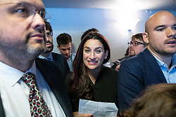 © Licensed to London News Pictures . 23/09/2018. Liverpool, UK. RUTH SMEETH at a rally by The Jewish Labour Movement at The Liverpool Pub in central Liverpool during the first day of the 2018 Labour Party Conference . Photo credit: Joel Goodman/LNP