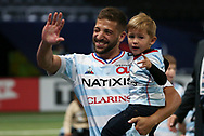 Teddy Iribaren of Racing 92 celebrates the victory following the Champions Cup, semi-final rugby union match between Racing 92 and Saracens on September 26, 2020 at Paris La Defense Arena in Nanterre near Paris, France - Photo Juan Soliz / ProSportsImages / DPPI