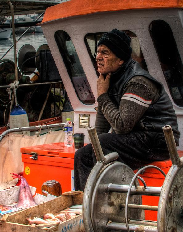 Fishermen in Volos harbour - 7