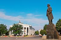Ukraine, Donetsk, statue de Lenine sur la place principale. // Ukraine, Donetsk, Lenine statue on the main square.