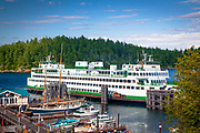 The ferry landing at Friday Harbor on San Juan island