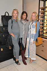 Left to right, TAMARA BECKWITH, LUCY DOUGHTY and ALICE NAYLOR-LEYLAND at a lunch hosted by Alice Naylor-Leyland and Tamara Beckwith in celebration of the Coach 2015 collection held at Coach, New Bond Street, London on 18th September 2014.