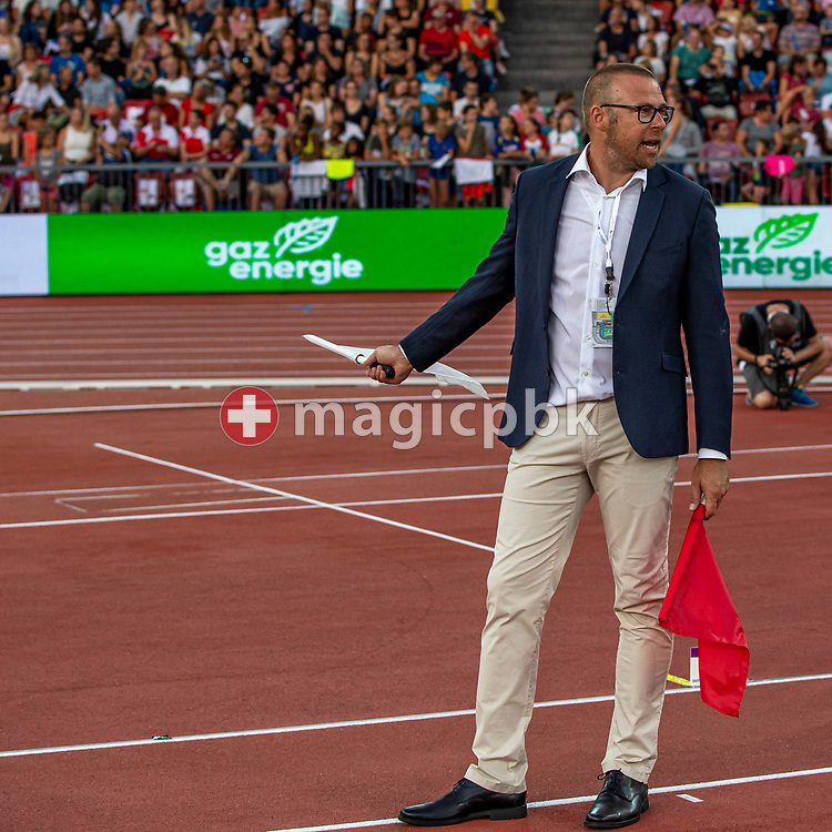A judge during the Iaaf Diamond League meeting (Weltklasse Zuerich) at the Letzigrund Stadium in Zurich, Switzerland, Thursday, Aug. 29, 2019. (Photo by Patrick B. Kraemer / MAGICPBK)