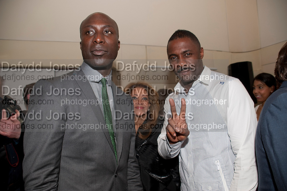 OSWALD BOATENG; IDRIS ELBA, Esquire Magazine's June issue hosted by the magazine's new editor Alex Bilmes and singer Lily Allen. Sketch.  5 May 2011<br /> <br />  , -DO NOT ARCHIVE-© Copyright Photograph by Dafydd Jones. 248 Clapham Rd. London SW9 0PZ. Tel 0207 820 0771. www.dafjones.com.