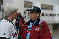 strong women. Marilla Cushman of The Women's Memorial and a Maine Native meets face to face with Iris Freespirit on Honor Flight Maine's visit to Washington DC.