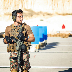 File photo dated July 2015 shown Jordan's Crown Prince Hussein Bin Abdullah (son of King Abdullah II and Queen Rania), during military training. He just graduated from Royal Military Academy Sandhurst (RMAS), known as Sandhurst, on August 11, 2017, in Camberley, south west of London, United Kingdom. Photo by Balkis Press/ABACAPRESS.COM