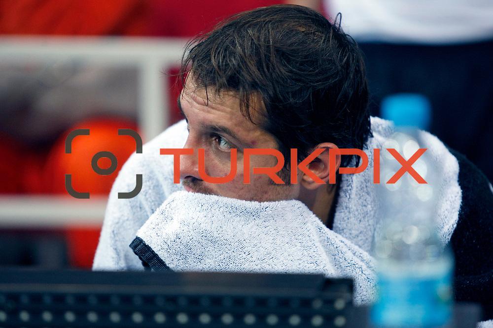 Anadolu Efes's Kerem TUNCERI during their Turkish Airlines Euroleague Basketball Group C Game 2 match Anadolu Efes between Belgacom Spirou  at Abdi Ipekci Arena in Istanbul, Turkey, Wednesday, October 26, 2011. Photo by TURKPIX