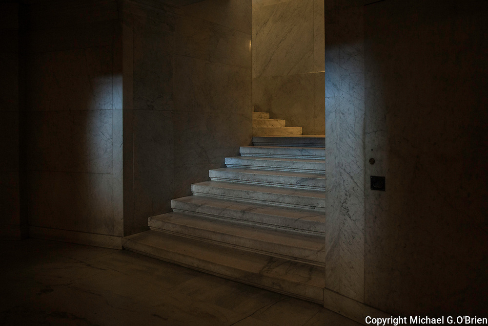 Staircase to lower level of the Grant's Tomb Monument, New York City