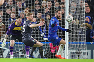 Chelsea forward Gonzalo Higuain (9) has a shot off target during the The FA Cup fourth round match between Chelsea and Sheffield Wednesday at Stamford Bridge, London, England on 27 January 2019.