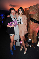 Left to right, EMMA HILL and ALEXA CHUNG at a party to celebrate the Mulberry Autumn Winter 2010 collection held at The Orangery, Kensington Palace, London on 21st February 2010.