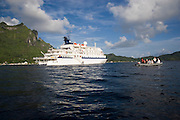 Spirit of Oceanus, Bora Bora, French Polynesia, (Editorial use only)<br />