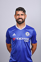 COBHAM, ENGLAND - AUGUST 11: Diego Costa of Chelsea during the Official Portrait session at Chelsea Training Ground on August 11, 2016 in Cobham, England. (Photo by Darren Walsh/Chelsea FC via Getty Images)