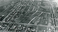 1920 Aerial photo looking north onto Windsor Square and Larchmont Blvd.(at left side of photo)