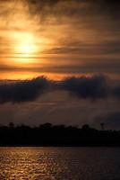 LORETO, PERU - CIRCA OCTOBER 2015:  Sunset in the Peruvian Amazon.