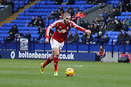 Nottingham Forest's Henri Lansbury in action. Skybet championship match, Bolton Wanderers v Nottingham Forest at the Reebok Stadium in Bolton, England on Saturday 11th Jan 2014.<br /> pic by David Richards, Andrew Orchard sports photography.