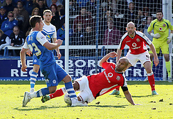 Peterborough United's David Norris is tackled by Walsall's Adam Chambers - Photo mandatory by-line: Joe Dent/JMP - Mobile: 07966 386802 - 06/04/2015 - SPORT - Football - Peterborough - ABAX Stadium - Peterborough United v Walsall - Sky Bet League One